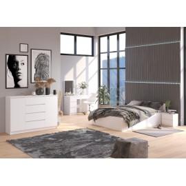 Łóżko CLP 160x200 ze stelażem i materacem białe
