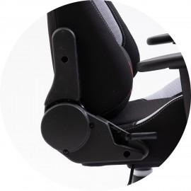 Fotel Gamingowy Materiałowy F4G FG38/F Szary