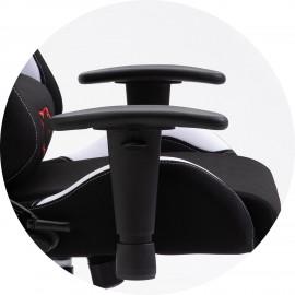 Fotel Gamingowy Materiałowy F4G FG38/F Biały