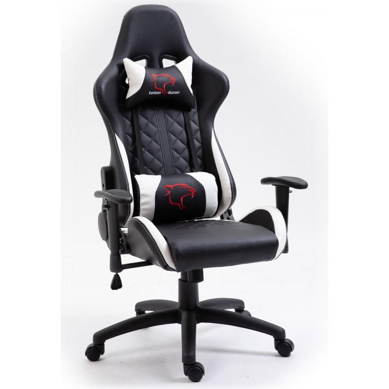 Fotel Gamingowy F4G FG40 HQ Biały