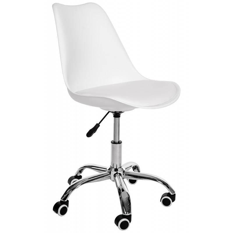Fotel Do Biurka Młodzieżowego Dziecięcego Fotel Obrotowy Biały