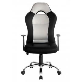 Fotel biurowy obrotowy ergonomiczny materiałowy czarno szary