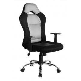 Fotel biurowy obrotowy ergonomiczny - Czarno szary
