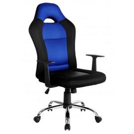 Fotel biurowy obrotowy ergonomiczny - Czarno niebieski