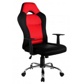Fotel biurowy obrotowy ergonomiczny - Czarno - Czerwony