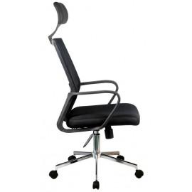 Fotel biurowy OCF-9 materiałowy - Czarny