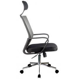 Fotel biurowy OCF-9 materiałowy - Szary