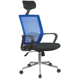 Fotel biurowy OCF-9 materiałowy - Niebieski