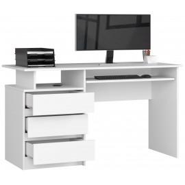 Duże funkcjonalne gamingowe białe biurko z możliwością wykorzystania biurowego