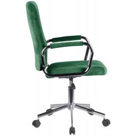 Krzesło welurowe obrotowe FD-24 - Butelkowa Zieleń