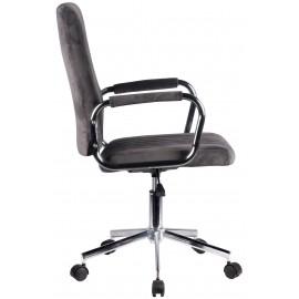 Krzesło welurowe obrotowe FD-24 - Szary