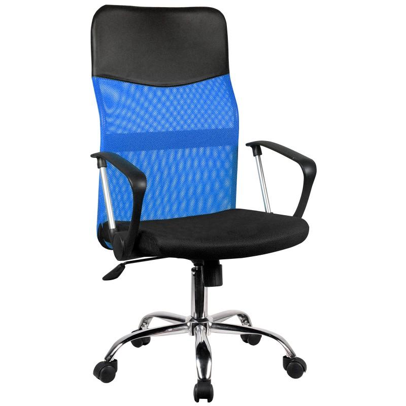 Siatkowy fotel biurowy OCF-7 - Niebieski