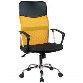 Siatkowy fotel biurowy OCF-7 - Pomarańczowy