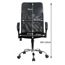 Czarny fotel biurowy wymiary