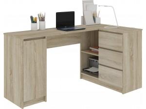 Duże biurka narożne - białe wysoki połysk, wenge, dąb sonoma
